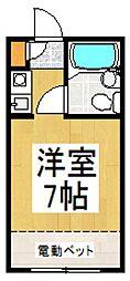 ツモルハイツ[1階]の間取り