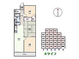 第二八幡台マンション[305号室]の間取り