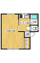 マンション生井[2階]の間取り