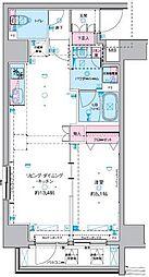 GENOVIA 東神田 green veil 9階1DKの間取り