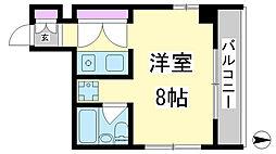 兵庫県神戸市兵庫区石井町7丁目の賃貸マンションの間取り