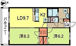 URBAN SQUARE[1階]の間取り
