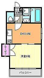 ファイブコート駒川[7階]の間取り