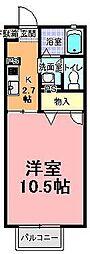 セフィラ小澤[203号室]の間取り