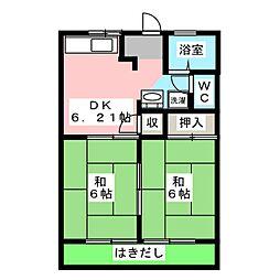コーポサンフォルム[1階]の間取り