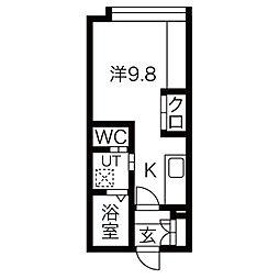 仮)菊水5-1MS B棟[406号室]の間取り