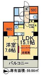 JR常磐線 南千住駅 徒歩5分の賃貸マンション 31階1SLDKの間取り
