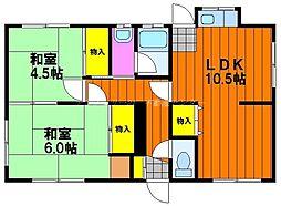 [一戸建] 岡山県岡山市北区北方2丁目 の賃貸【/】の間取り