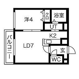 エスポワールN[5階]の間取り
