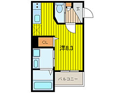 Brilliant Urawa[3階]の間取り