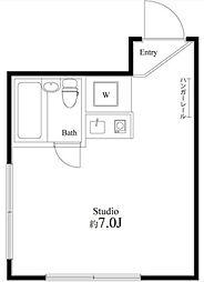 アサヒ・コート成城東[1階]の間取り