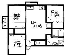 セーフティアットホームI[1階]の間取り