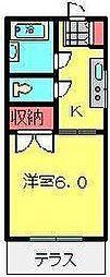 サンコーポ広瀬[107号室号室]の間取り