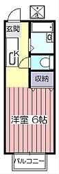 埼玉県所沢市大字久米の賃貸アパートの間取り