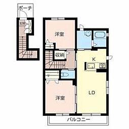 シャーメゾン八幡[2階]の間取り