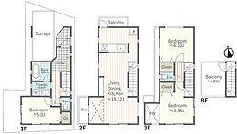 建物プラン例 B区画 建物価格1956万円、建物面積100.29平米