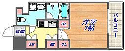 アーバネックス神戸六甲[207号室]の間取り