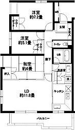 東京都渋谷区代々木4丁目の賃貸マンションの間取り