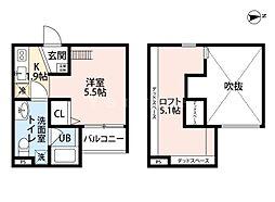 アキラ大阪(アキラオオサカ)[1階]の間取り