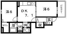 マーガレットハウス[105号室号室]の間取り