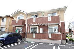 岡山県岡山市北区富田の賃貸アパートの外観