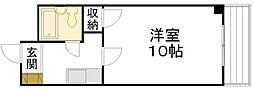 広島県広島市西区横川町3丁目の賃貸マンションの間取り