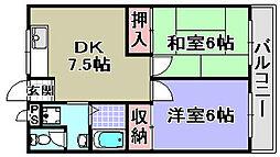 法橋マンション[203号室]の間取り