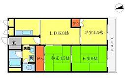 メゾン千里中央[6階]の間取り