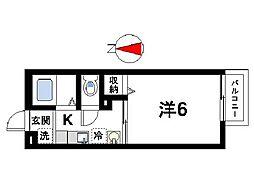 京都府木津川市相楽台5丁目の賃貸アパートの間取り
