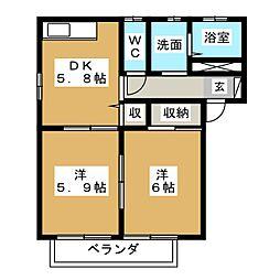 エスペランサ入江[2階]の間取り
