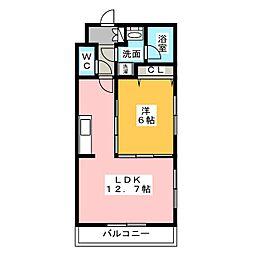 パルティールII[2階]の間取り