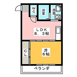 美鈴マンション[1階]の間取り