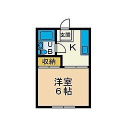コリンウッド鶴巻[2階]の間取り