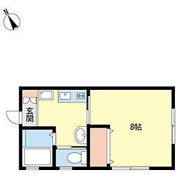 新潟県新潟市中央区関屋田町3丁目の賃貸アパートの間取り
