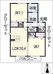 さくらハイツ A棟[2階]の間取り