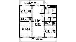 清和台センターハイツM棟[3階]の間取り