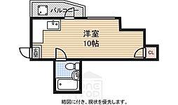 エクセル京町堀[4A号室]の間取り