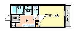 大阪府大阪市平野区加美西1丁目の賃貸マンションの間取り