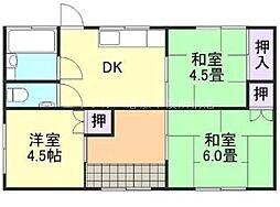 [一戸建] 岡山県倉敷市羽島 の賃貸【/】の間取り