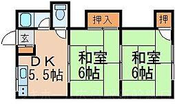 広島県広島市東区温品4丁目の賃貸アパートの間取り