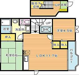 クレストール緑ヶ丘 A棟[2階]の間取り