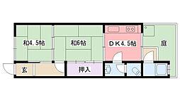 米田文化[106号室]の間取り