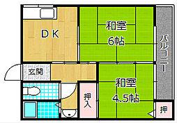 田ノ口公園2番館[1階]の間取り