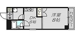 ジオナ松屋町[7階]の間取り