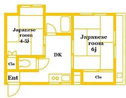 田辺ビル[2階]の間取り
