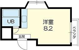 カーサ香呂 3階ワンルームの間取り