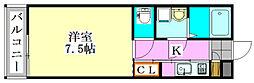 フェリースグラシア海神[303号室]の間取り