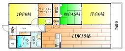 コートレジデンス[3階]の間取り