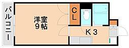 シティコート3西鉄下大利駅前[2階]の間取り