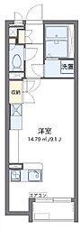 JR山陽本線 福山駅 3.8kmの賃貸アパート 2階ワンルームの間取り